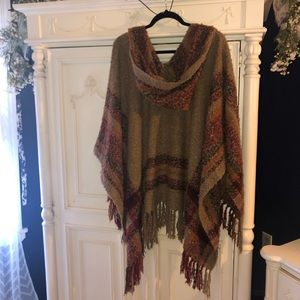 Free People Hooded Cape